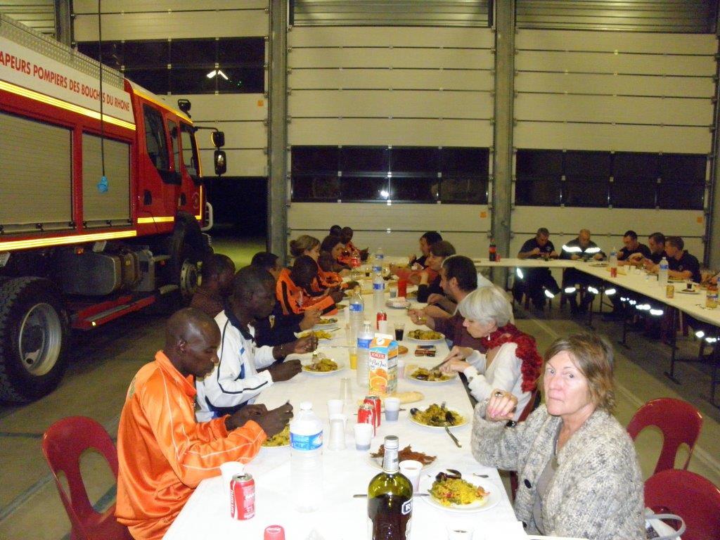 L'équipe hébergée par le SDIS 13 au centre d'Ensues-la-Redonne